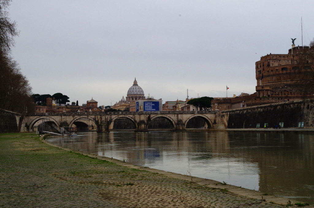 Bridge on the Tiber river
