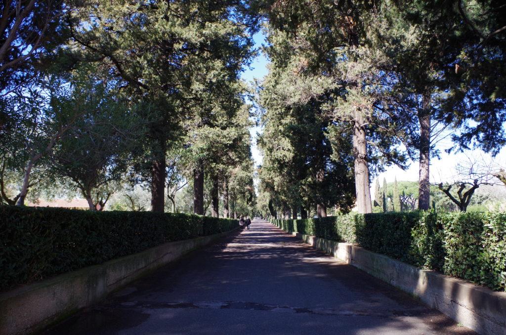 Via Appia next to The Catacombs of Saint Sebastian