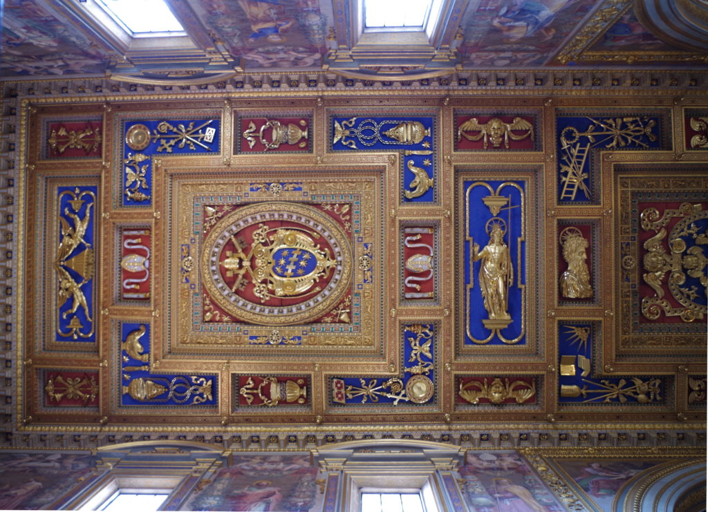 Decorated ceiling of the Basilica of St. John in Laterano