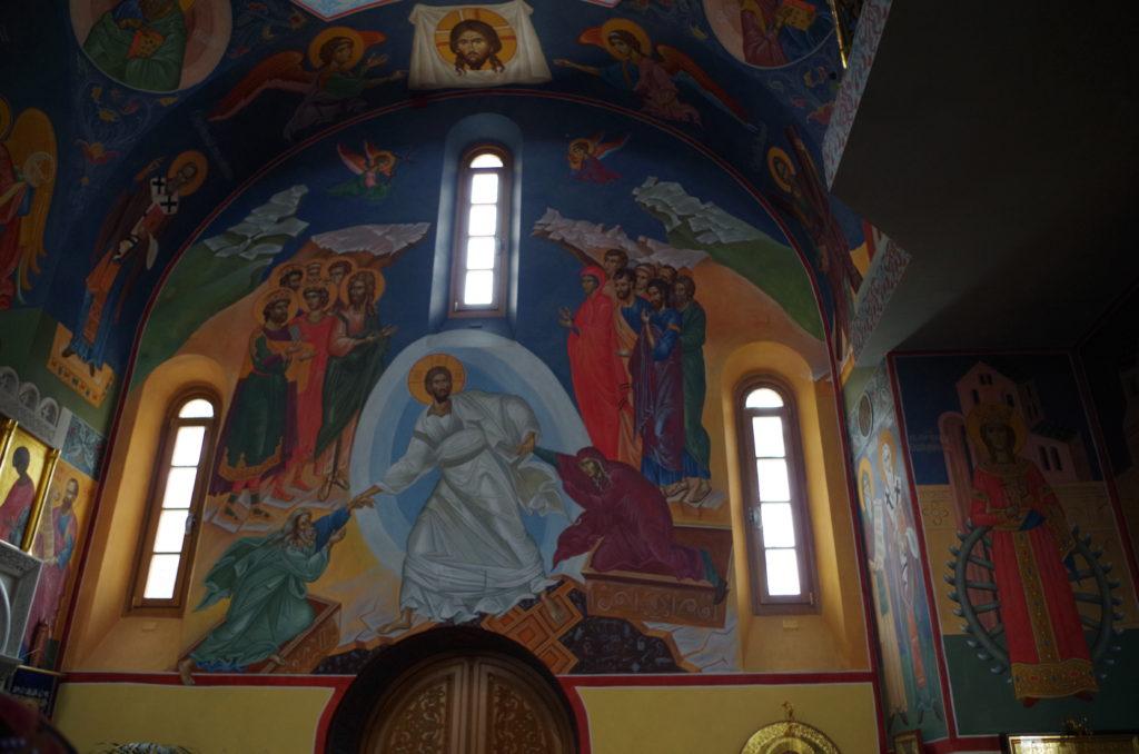 Resurrection illustrated on the frescoes