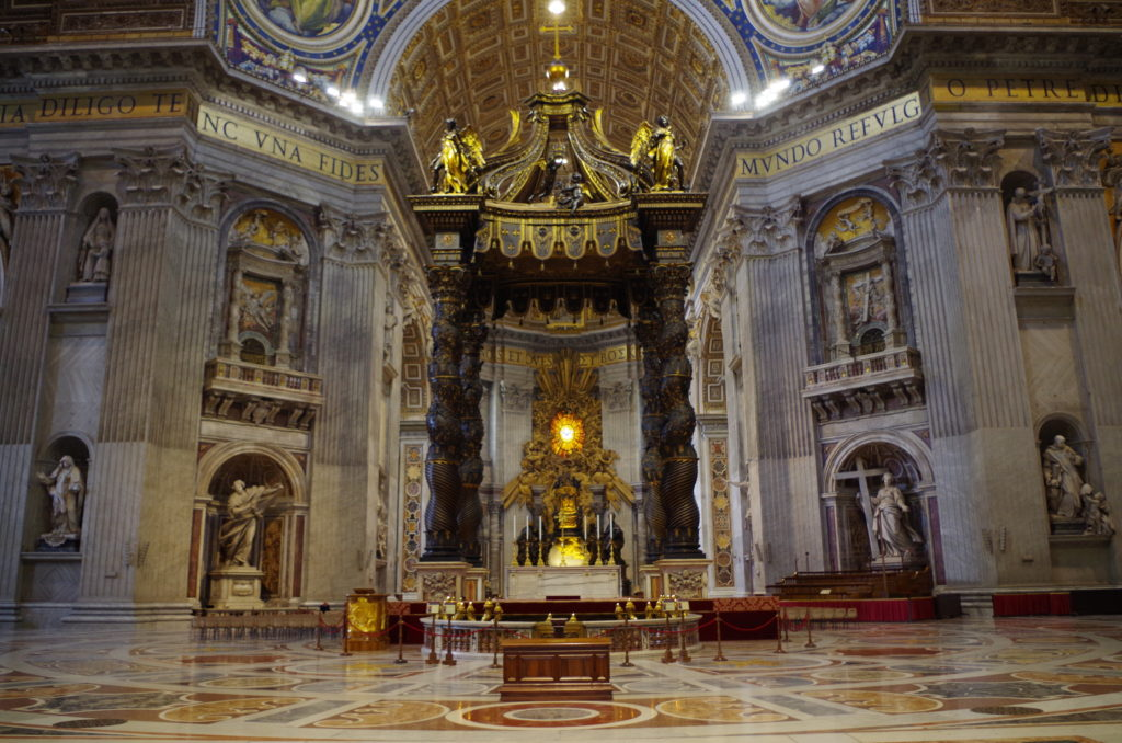 Throne in the St. Peters Basilica